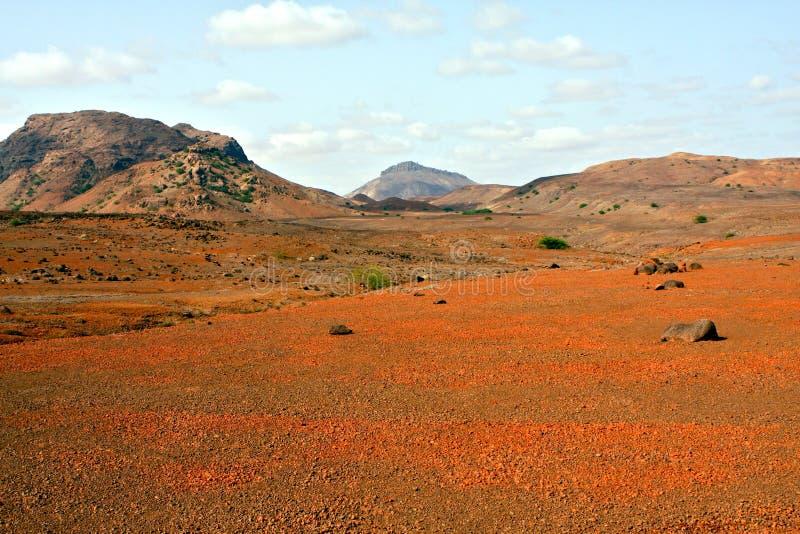 Red desert in Cape Verde. The red desert in the island of Boa Vista in the archipelago of Cape Verde stock image