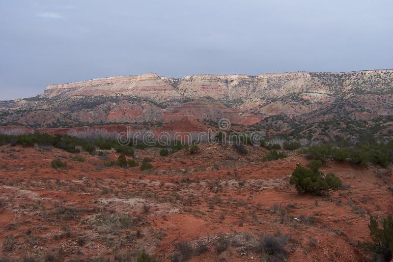 Canyons and valleys of New Mexico. Red desert of New Mexico marks arid landscape royalty free stock photography