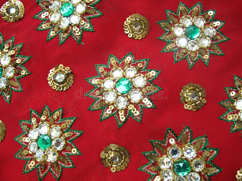 Download Red designer fabric stock photo. Image of handmade, clothes - 14170520