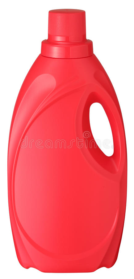 Red Detergent Bottle stock photo