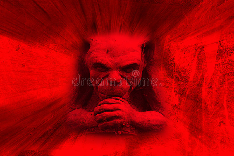 Red devil royalty free stock photos