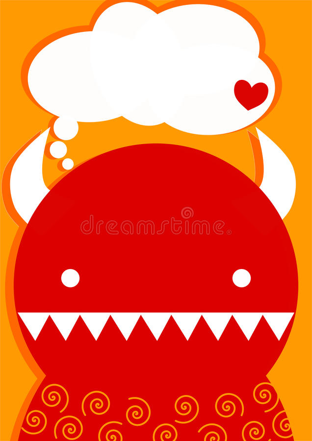 Red Devil Valentines Day Card Stock Photos