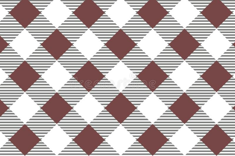 Red diagonal Gingham pattern. Texture from rhombus/squares for - plaid, tablecloths, clothes, shirts, dresses, paper, bedding,. Blankets, quilts and other vector illustration