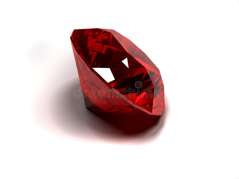 Red diamond. 3d rendered illustration of a shiny red diamond royalty free illustration