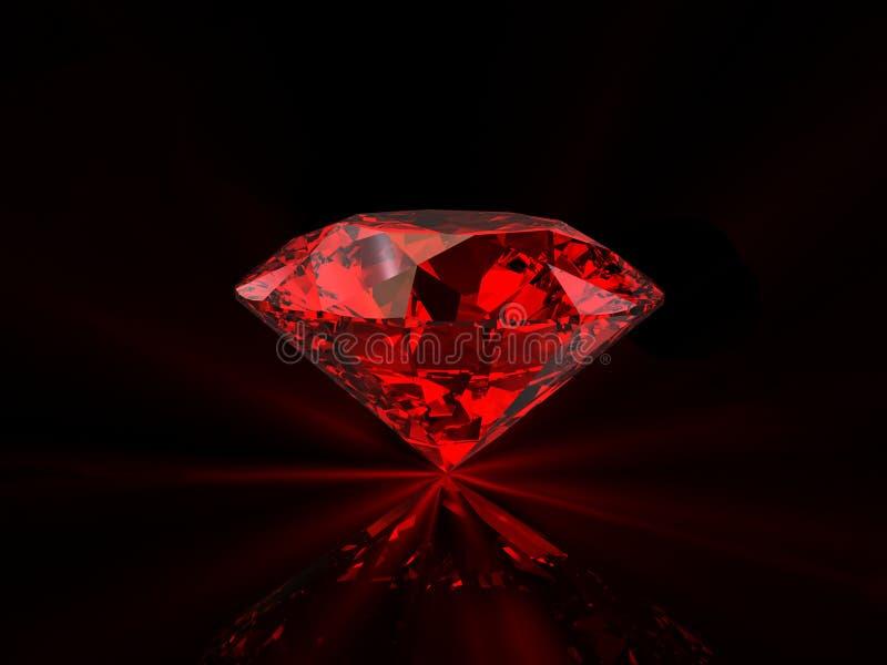 Red Diamond On Black Background Stock Illustration