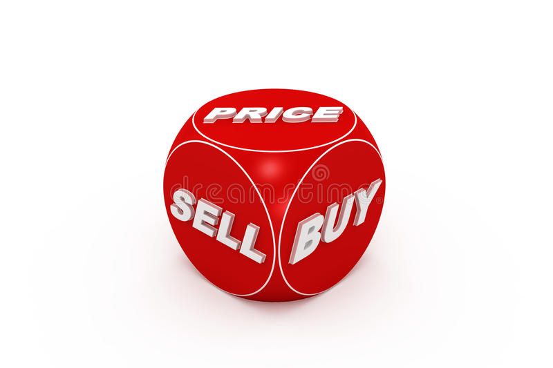 Download Red Dice  With Buy, Sell, Price Words. Stock Image - Image: 19630741