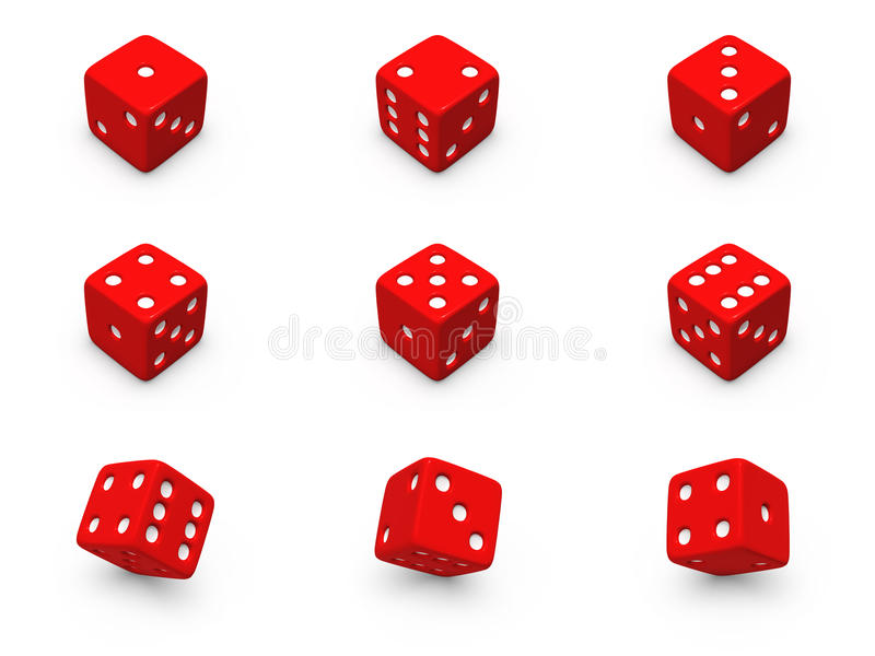 Download Red Dice From Different Angles Stock Illustration - Illustration: 22617533