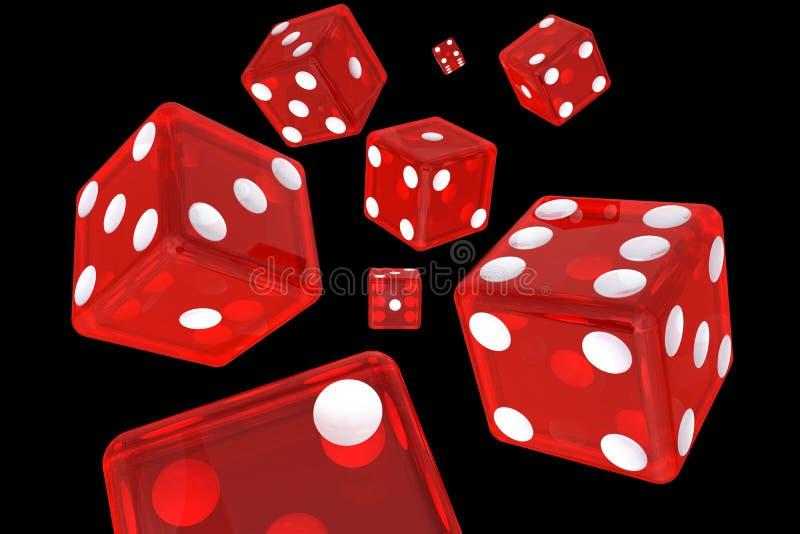 Download Red Dice stock illustration. Illustration of fortune - 36369862