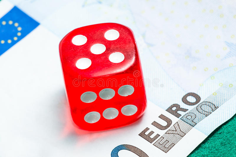 Download Red dice stock photo. Image of macro, closeup, green - 36345216