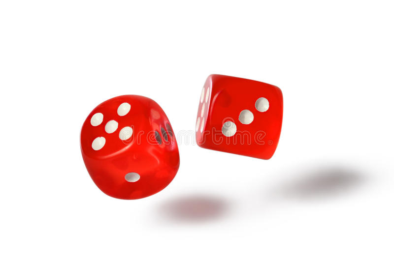 Red dice stock image