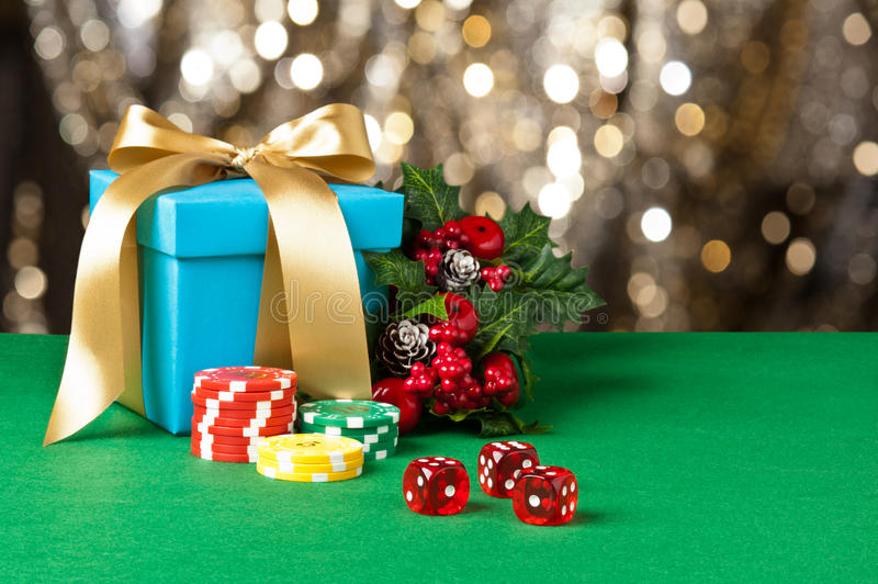 Download Red dice and poker chips stock image. Image of gift, peacock - 26090323