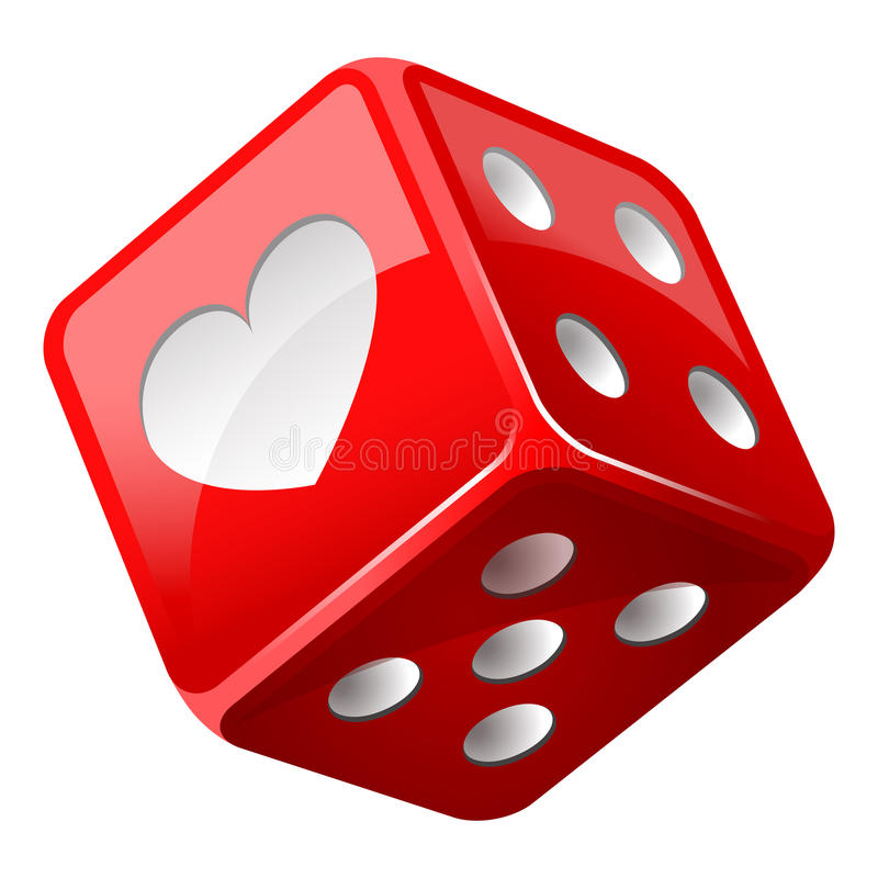 Red dice vector illustration