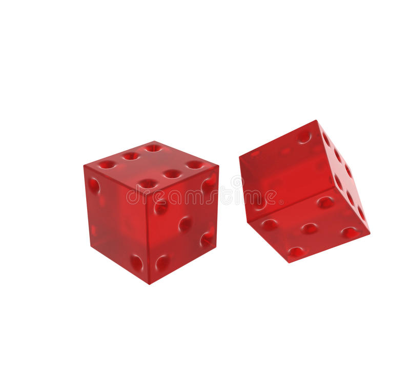 Download Red Die On White Background Stock Illustration - Image: 29265431
