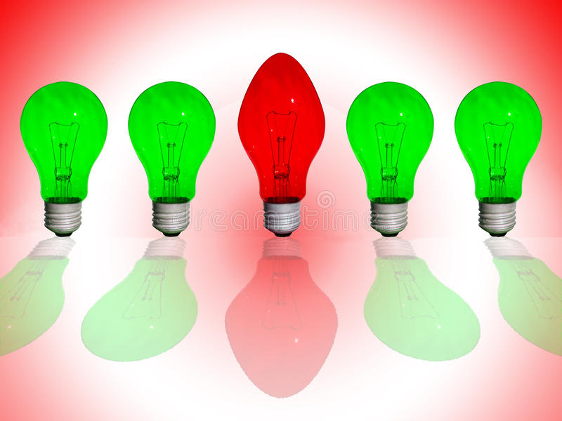 Red different lamp royalty free stock photos