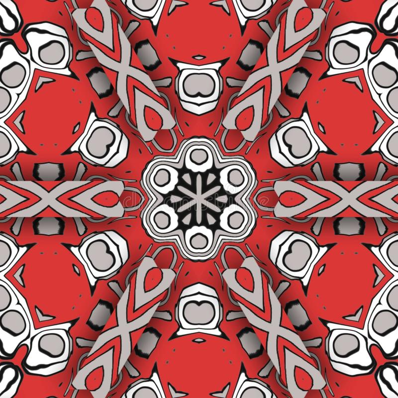 Red abstract and  digital art forms stock photo