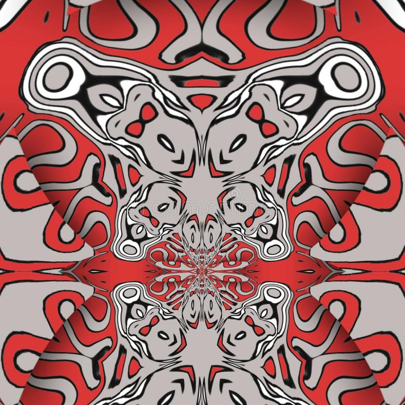 Red abstract and  digital art forms royalty free stock photos