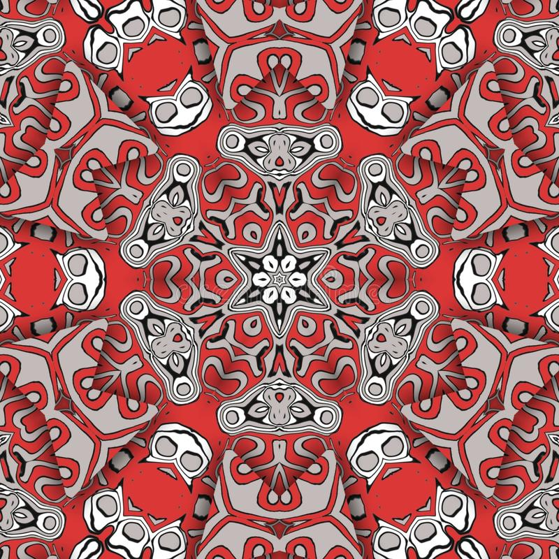 Red abstract and  digital art faces stock photos