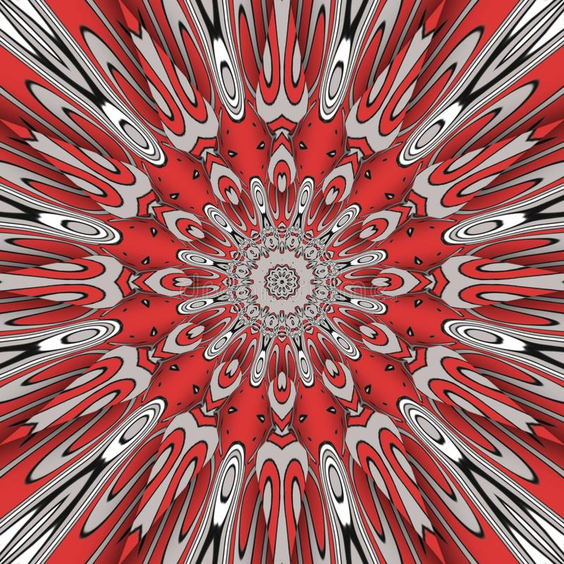 Red abstract and  digital art flowers royalty free stock photography
