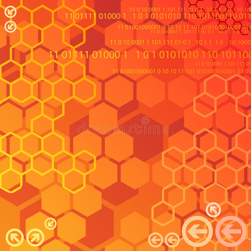 Download Red Digital Background Stock Image - Image: 21844781