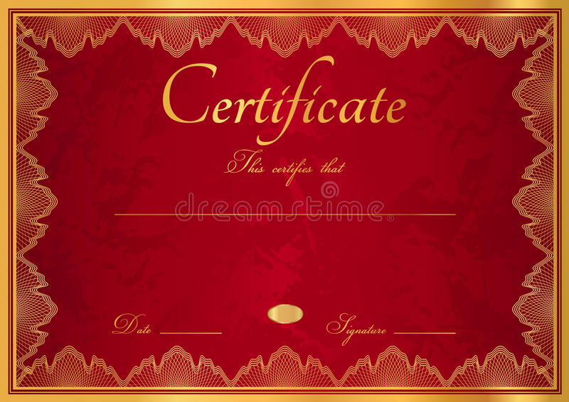 Download Red Diploma / Certificate Background With Border Stock Vector - Image: 30532703