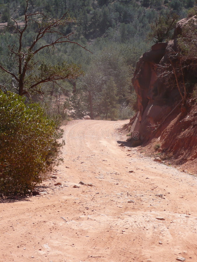 Red Dirt Road Stock Photography