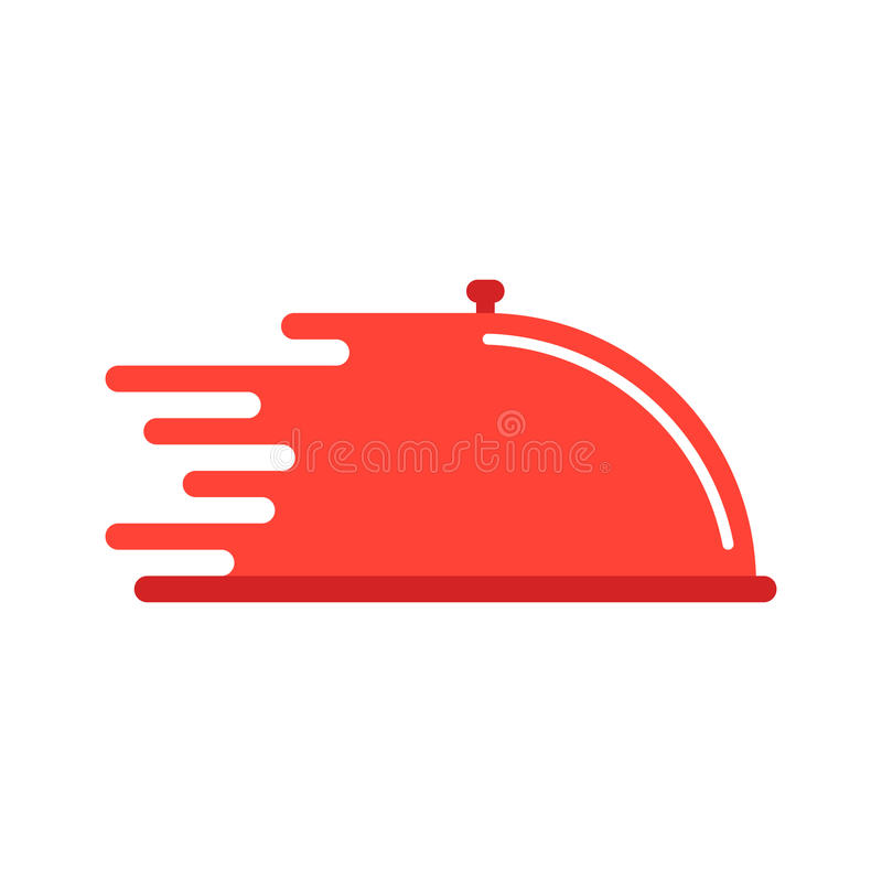 Red dish like food delivery royalty free illustration