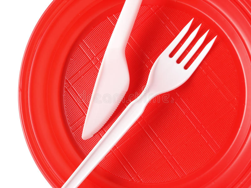 Download Red disposable plate stock photo. Image of symbol, picnic - 11456284