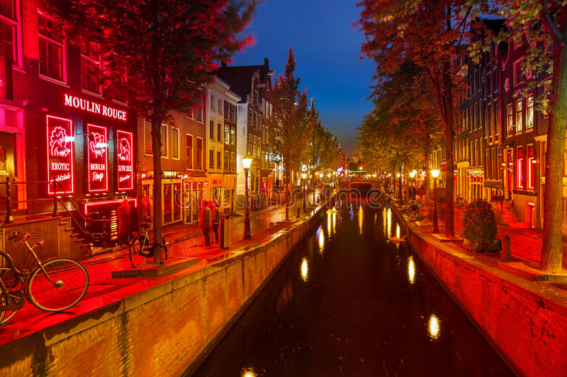 Red district in Amsterdam royalty free stock photos