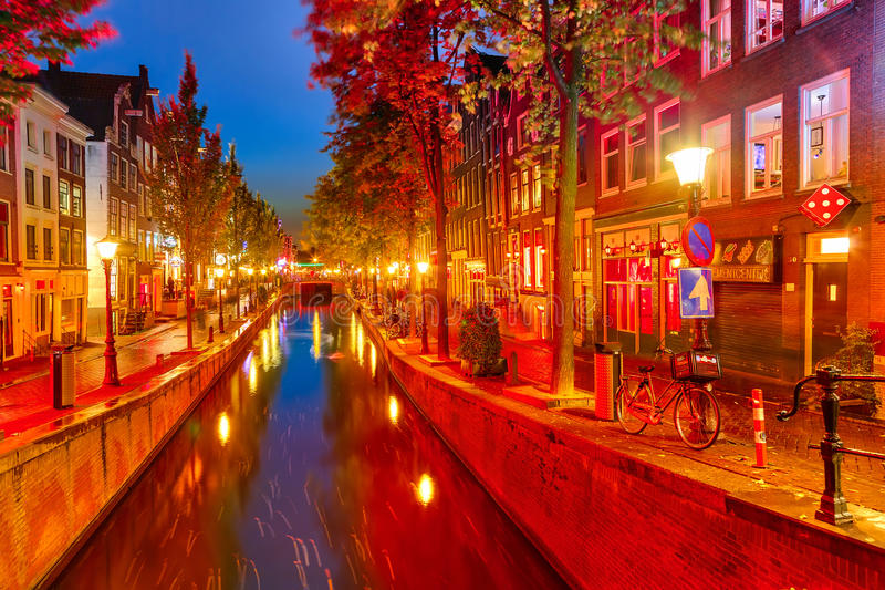Red district in Amsterdam royalty free stock photography
