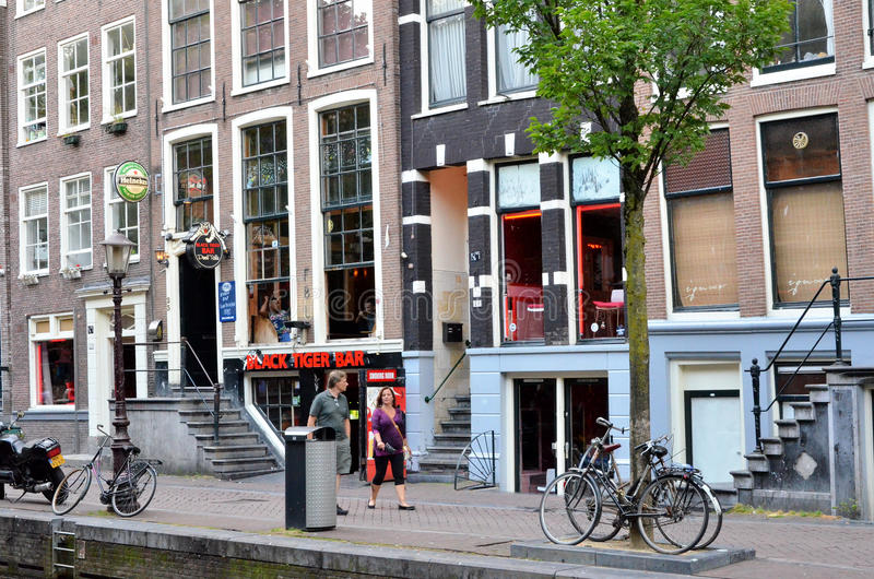 Red district in Amsterdam stock photography