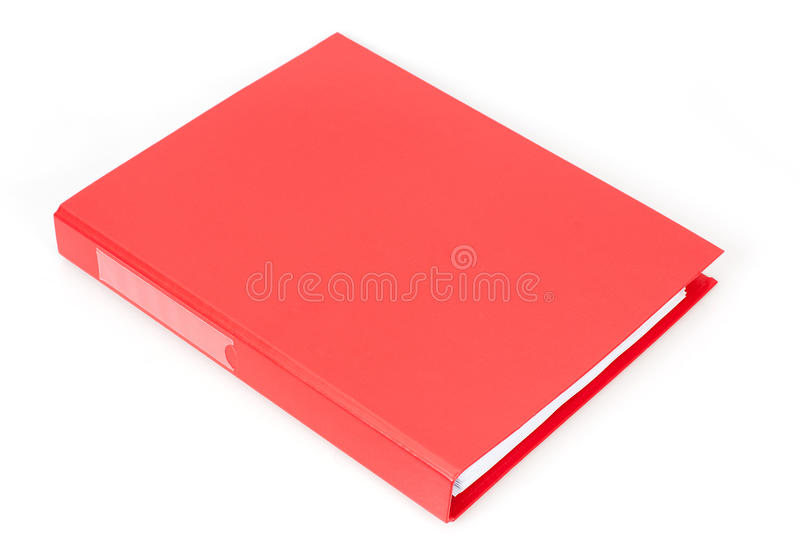Red document case stock photography