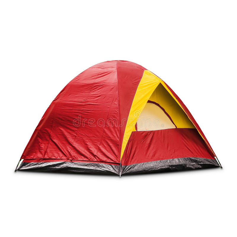 Red dome tent royalty free stock images