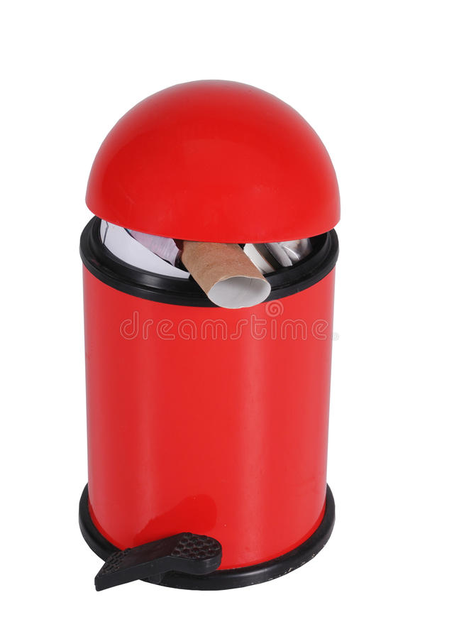 Download Red Domed Bin stock image. Image of refuse, domestic - 37633799