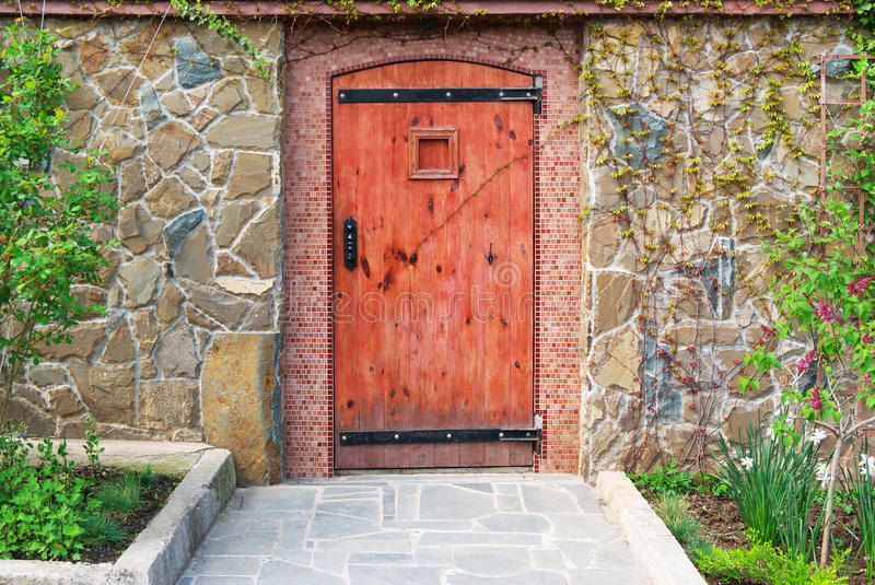 Download Red door stock photo. Image of building, classic, house - 14141400