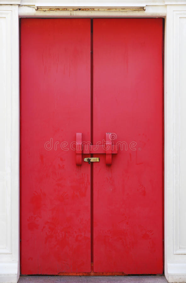 Download Red door stock image. Image of security, gate, frame - 28419833