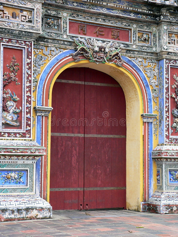 The Red Door stock photos