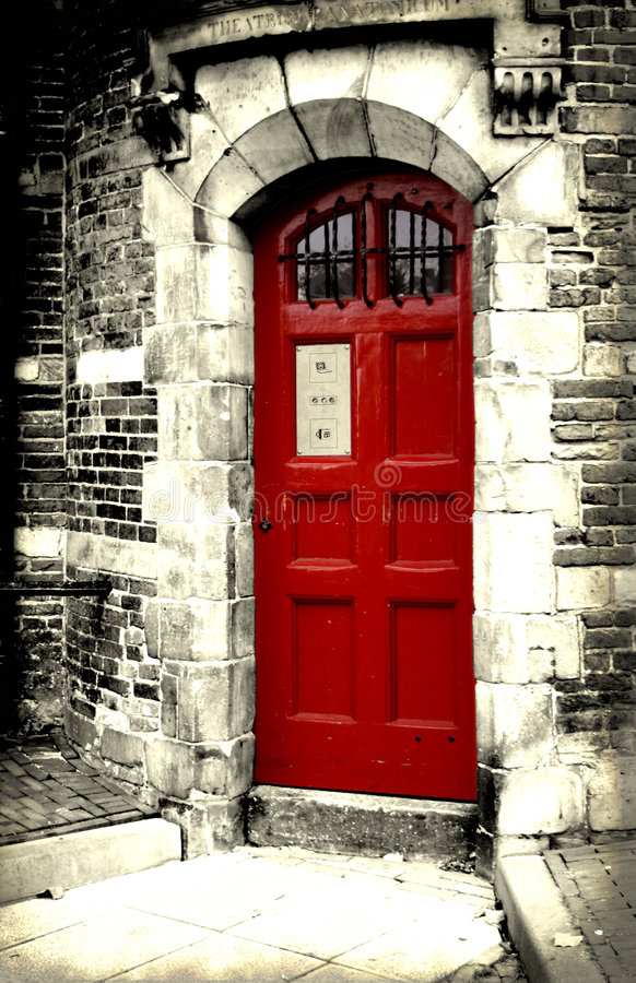 Red Door royalty free stock images