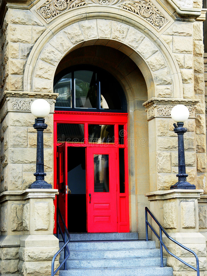 Download Red door stock photo. Image of city, details, colonial, entry - 85056