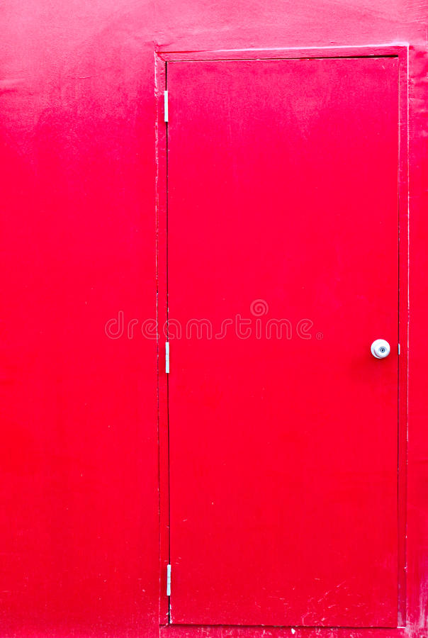 Download Red door with red wall stock photo. Image of outside - 23022140