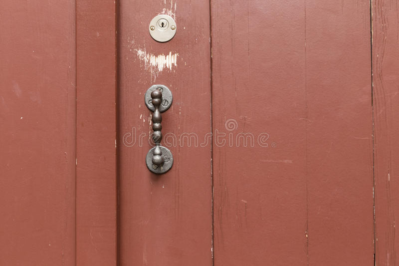 red_door_straight_metal_knob-1 images stock