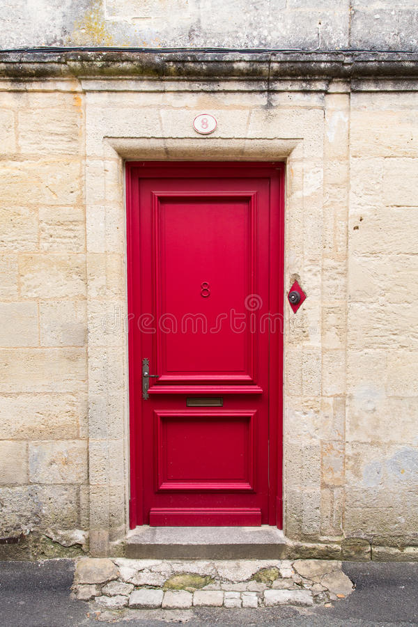Download Red door stock image. Image of access, handle, stone - 31853869