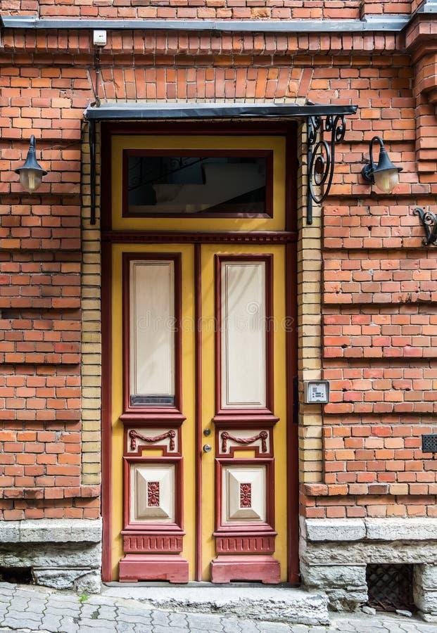 Red Front Door stock photography