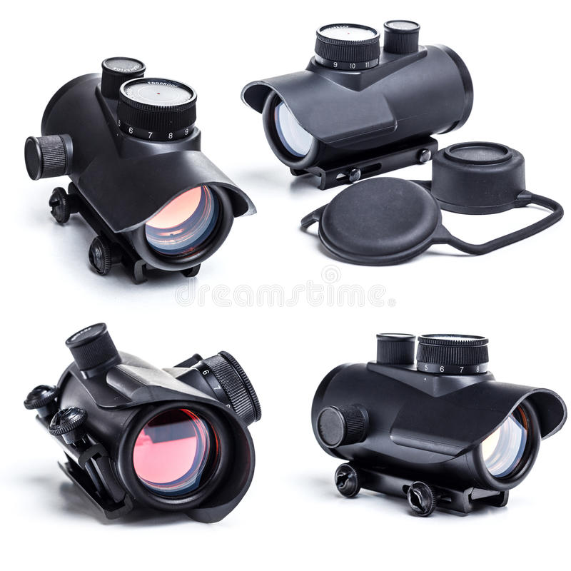 Red dot scope royalty free stock photo