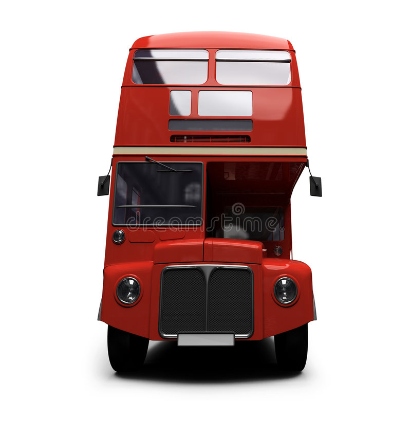 Download Red Double Decker Autobus Over White Stock Illustration - Image: 6493527