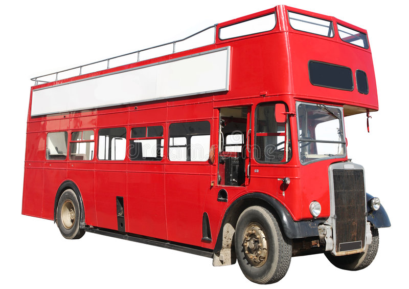 Download Red double-decker bus. stock photo. Image of empty, rusty - 2999200