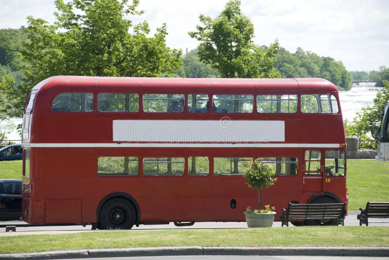Download Red double decker bus stock image. Image of banner, windows - 9631599