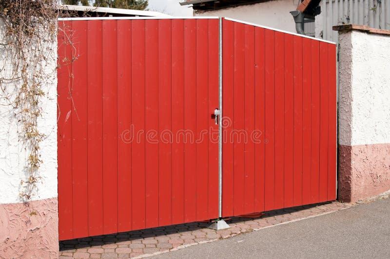 Red double door