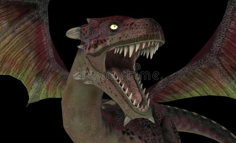 Download Red dragon stock illustration. Image of fable, wyvern - 20494254