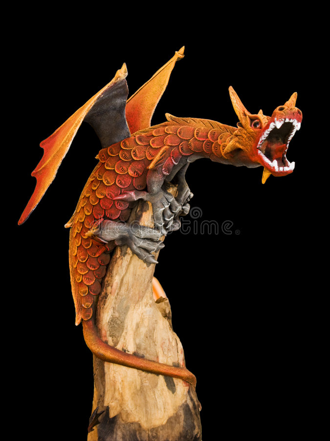 Download Red Dragon stock image. Image of mouth, sculpture, dragon - 6861601