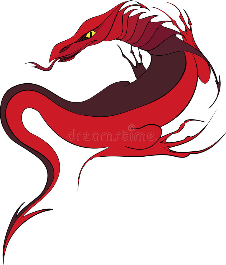 Download Red dragon stock vector. Image of chinese, fantasy, amphibians - 8426945